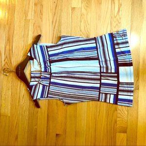 NWT ❤️ CALVIN KLEIN BLOUSE -Blue stripes Size S